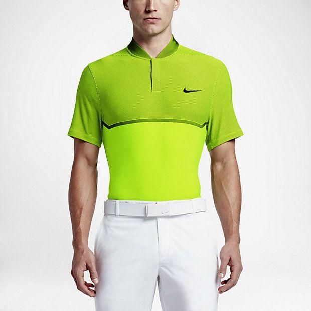 3b57d611 Nike MM Fly Swing Knit Block Alpha Men's Golf Polo   Golf Fashion ...