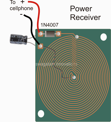Wireless Cellphone Charger Circuit | Electronic Circuit Projects ...