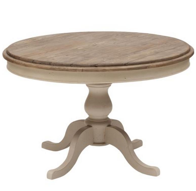 """Cottage Round Pedestal Kitchen Table 47"""" White"""