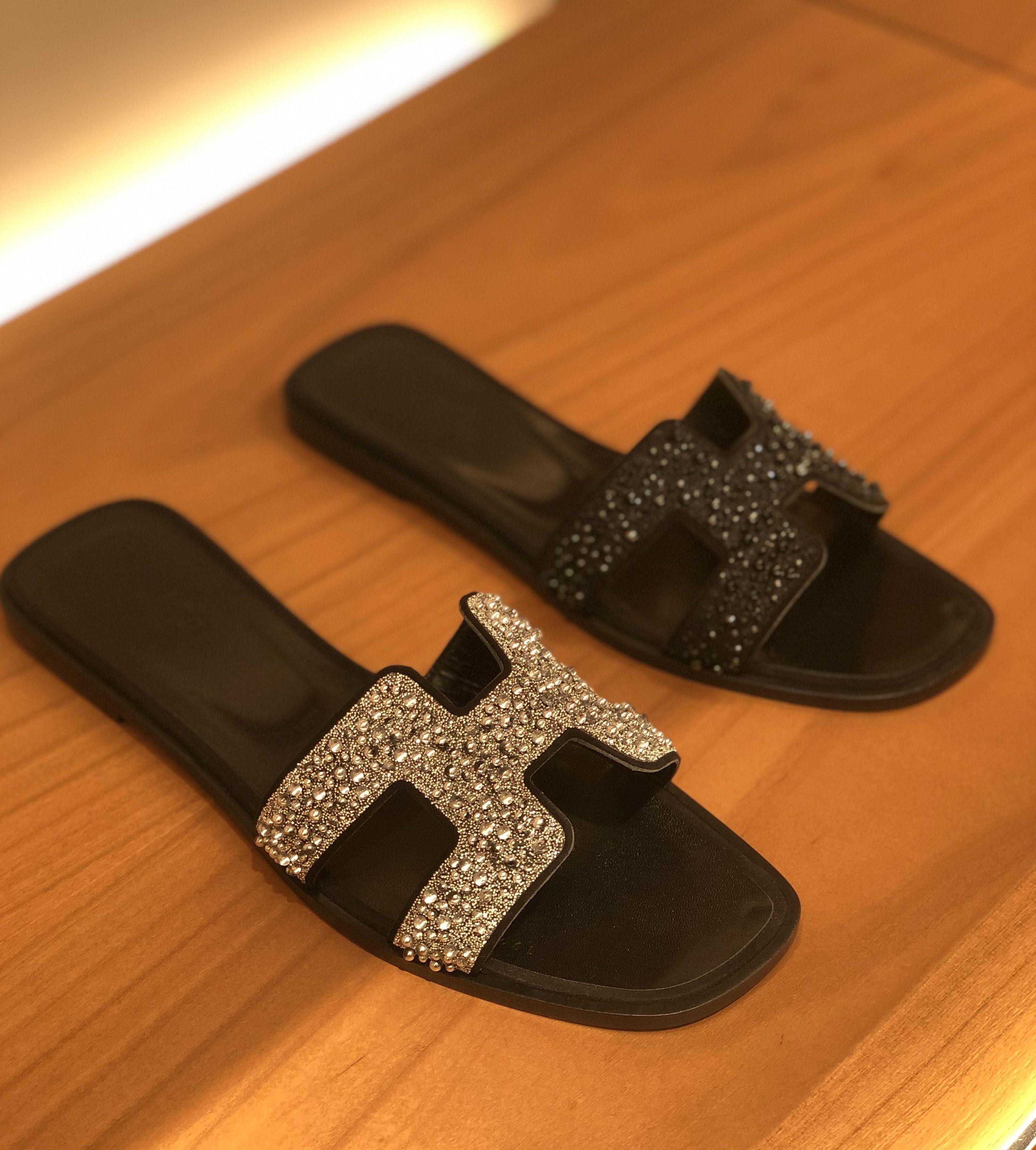 hermes suede sandals
