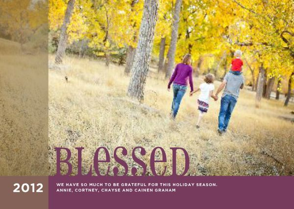 HM Blessed designed by Roxanne Buchholz 7 x 5 Invitation Template - invitation template nature