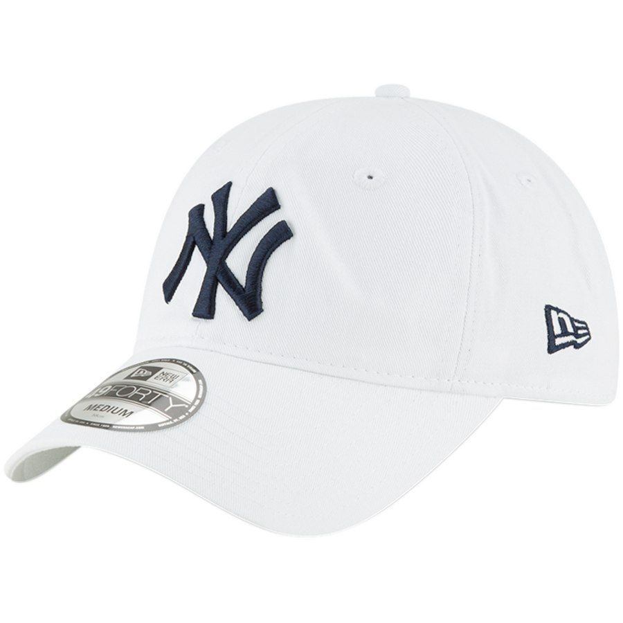 44ddb03339520 Men s New York Yankees New Era White Core 49FORTY Fitted Hat