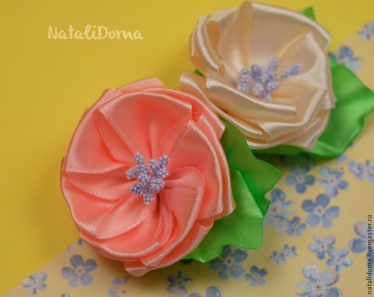 Сделать простой цветок из ленты своими руками фото 946