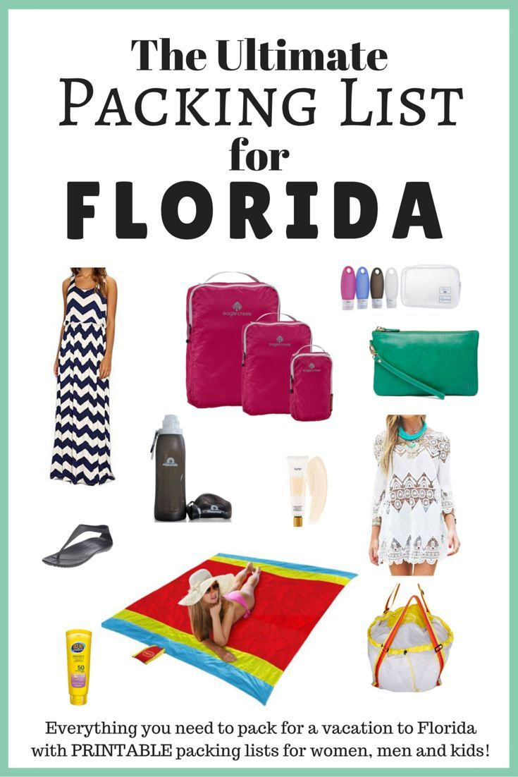 3d22d72cc1 The Ultimate Packing List for Florida! Wondering what to pack for a vacation  to Florida? Read my detailed packing list for Florida in this post and  download ...