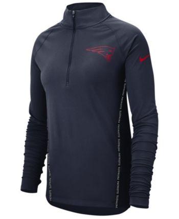 4c46a0db5 Nike Women s New England Patriots Element Core Quarter-Zip Pullover - Blue  XL