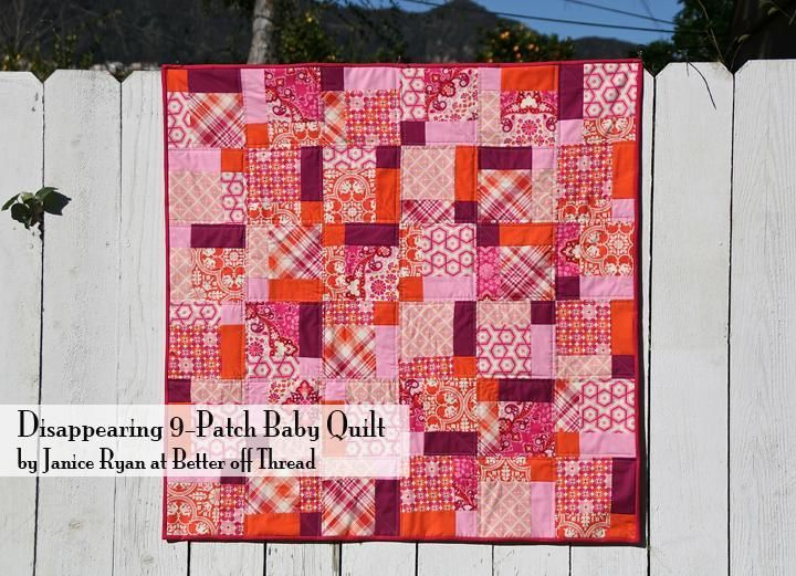 Disappearing 9-Patch Baby Quilt | Baby quilt patterns, Babies and ... : 9 patch baby quilt pattern - Adamdwight.com