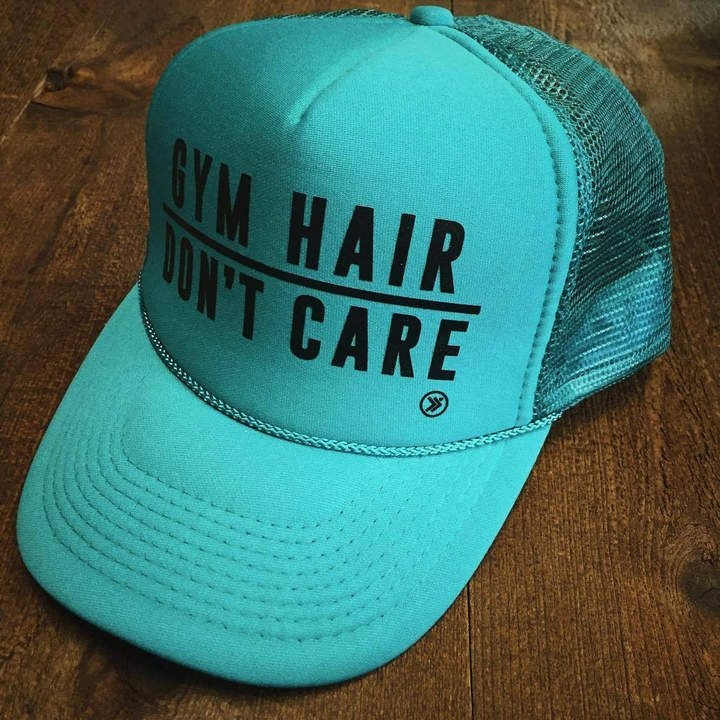 Etsy GYM HAIR Don t Care Funny Snapback Trucker Hat 3e075455857c