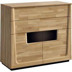 Photo of Complete bedroom set L Topusko, 5 pieces, partly solid, color: oak / black Steinersteiner