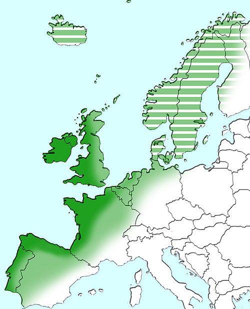 Atlantic Europe  Atlantic Europe  Atlantic Arc[8]  Rest of Europe