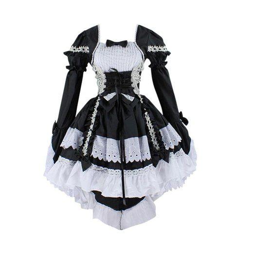 Zwotkipxu Femme Landa Cosplay Très Gothique Carnaval Mai Costume Chic De L34j5AR