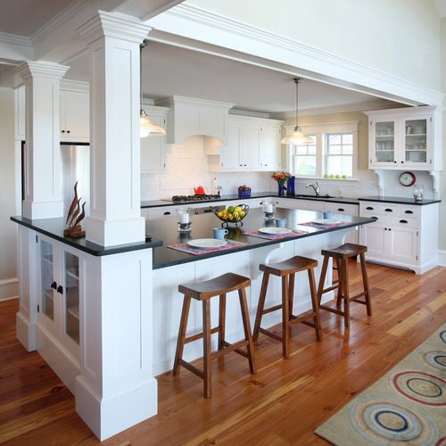 Kitchen Peninsula With Column: Image Result For Load Bearing Wall Removal Split Level