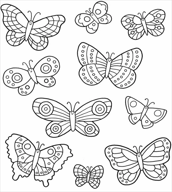 Printable Crafts Colouring Pages Free Premium Templates Butterfly Coloring Page Butterfly Template Butterfly Printable