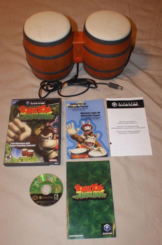 ed97d43bae9 Nintendo GameCube Donkey Kong Jungle Beat   DK Bongos Drums clean tested  works