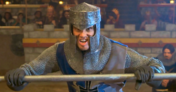 Jim Carrey in The Cable Guy. Medieval Times fight scene. | The cable guy,  About time movie, Guys