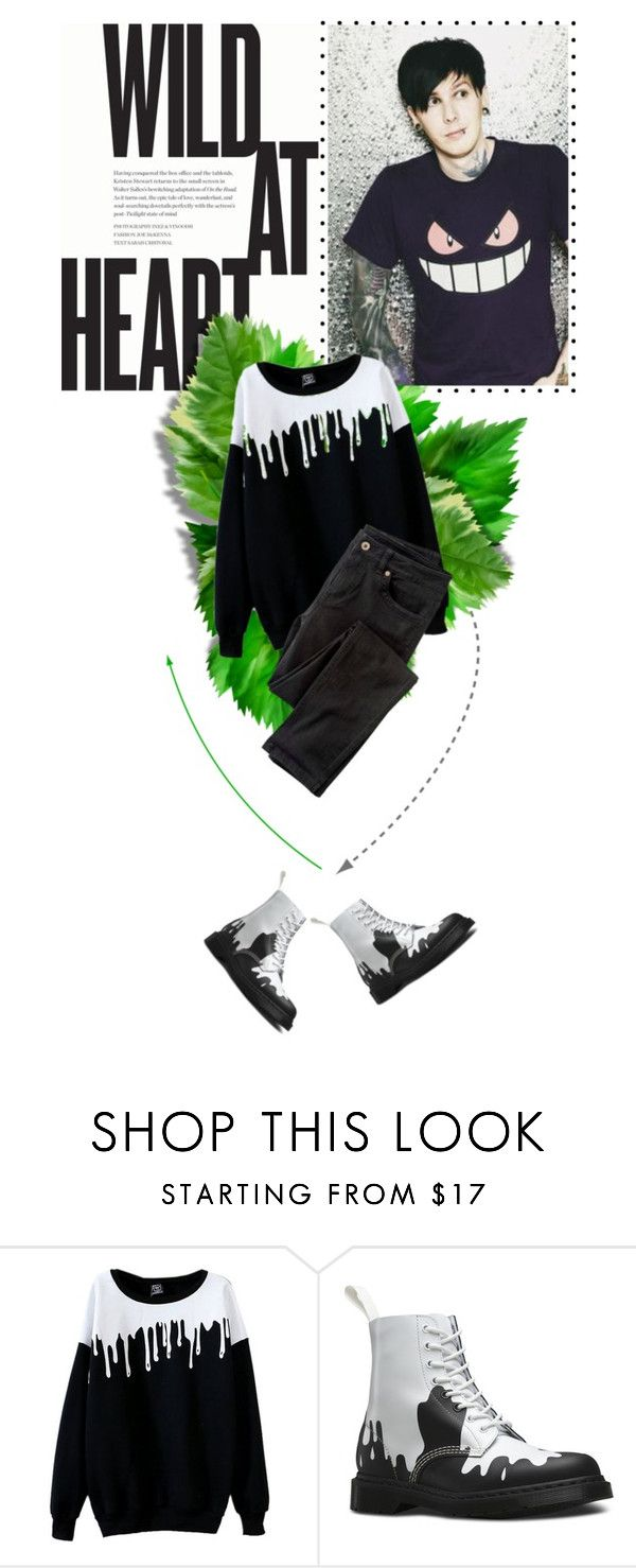 """""""WildPhil"""" by janiaame ❤ liked on Polyvore featuring Dr. Martens, Wrap, menswear, phillester and janiamania"""