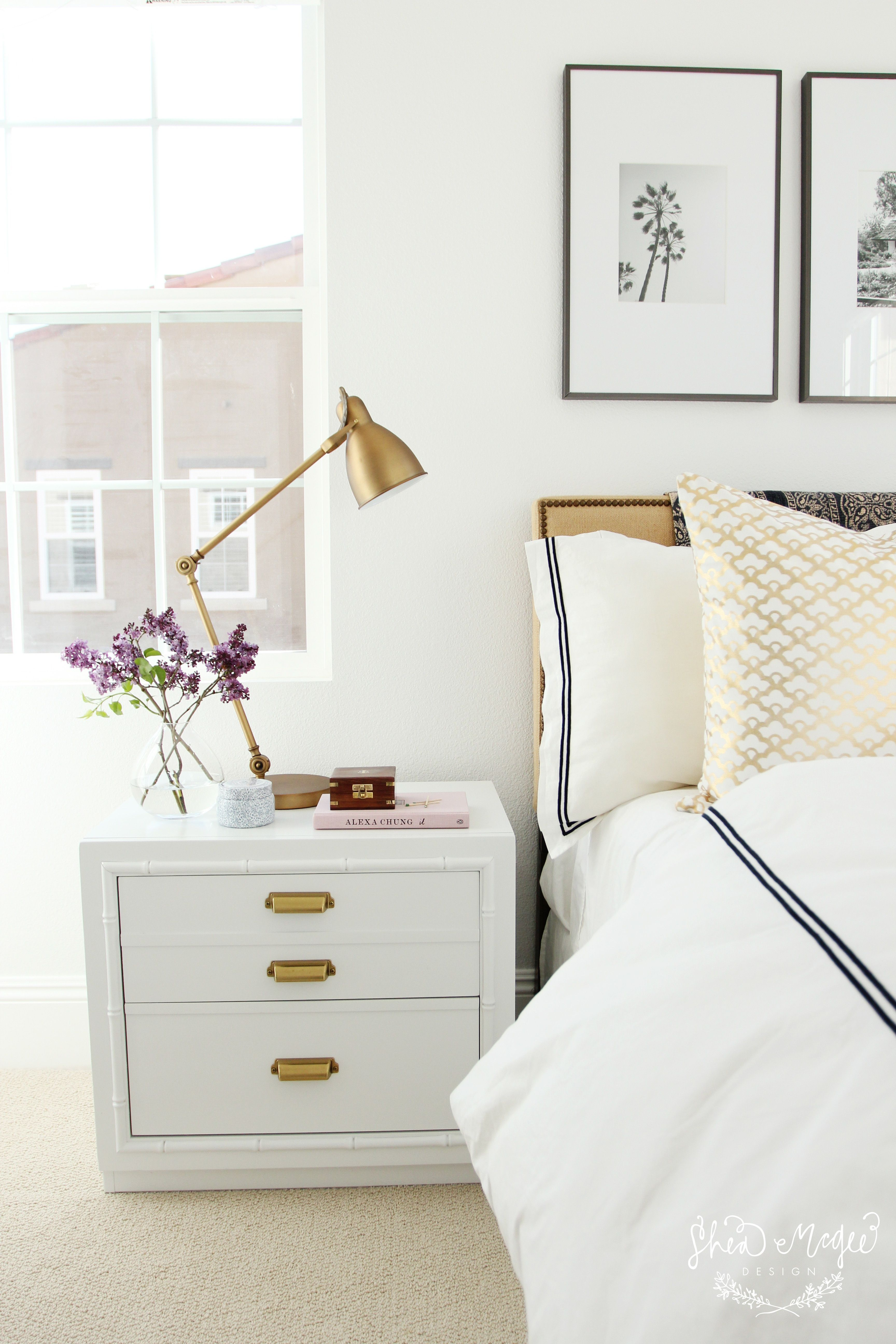 Caitlin Wilson   Gold Lotus Pillow styled by Shea McGee Design ...