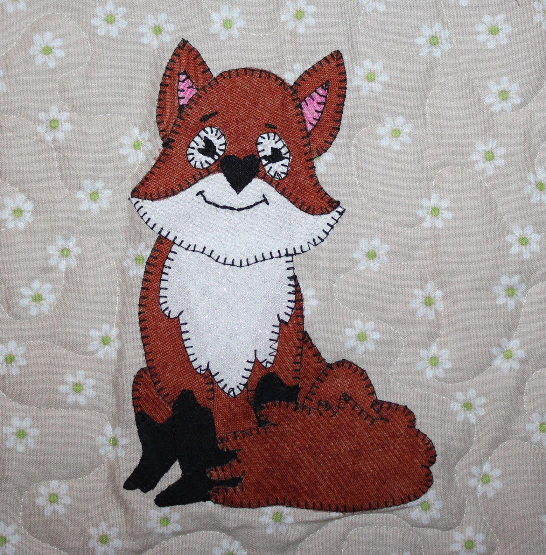 Fox Pdf Applique Quilt Block Pattern Support Small