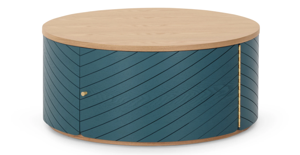 Novak Coffee Table Ash And Teal In 2020 Table Coffee Table Side Table