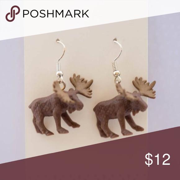 Moose Spirit Animal Earrings These cute little woodsy guys
