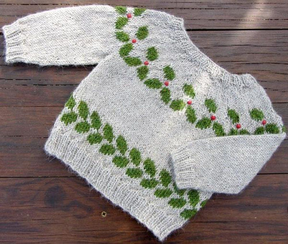 The holly ivy leaf knitting patterns and patterns the holly bankloansurffo Gallery