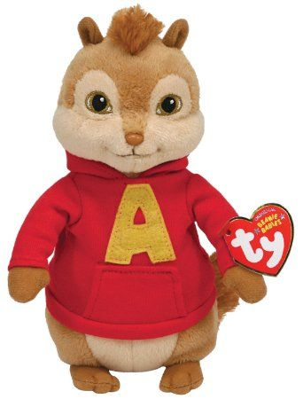 """#Alvin and the #Chipmunks Beanie Babies:  Ty is wildly popular Beanie Babies Collection.  Alvin is the life of the party. He has never heard the term """"look before you leap"""". He is #funny, impulsive and of course a musical genius.His group, Alvin and the Chipmunks, has been eligible for admittance in the Rock and Roll Hall of Fame since 1983 but is yet to be inducted. only at $6.65"""