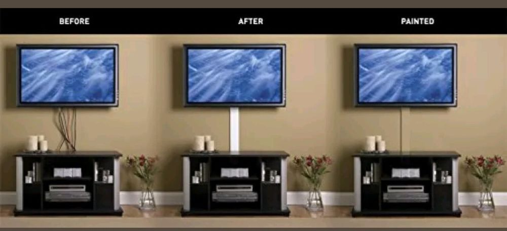 Hide Tv Cables Wires Cord Covers For Wall Kit Computer Audio Power Organizer New Wiremold Hidden Tv Hide Tv Wires Living Room Tv Wall