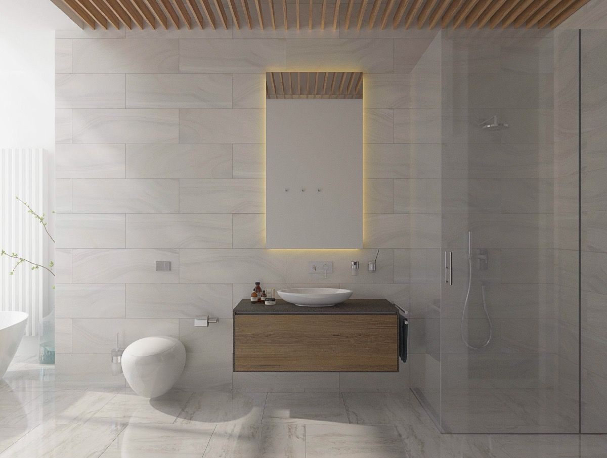 Badezimmer design ideen klein  moderne minimalistische stil badezimmer in   badezimmer