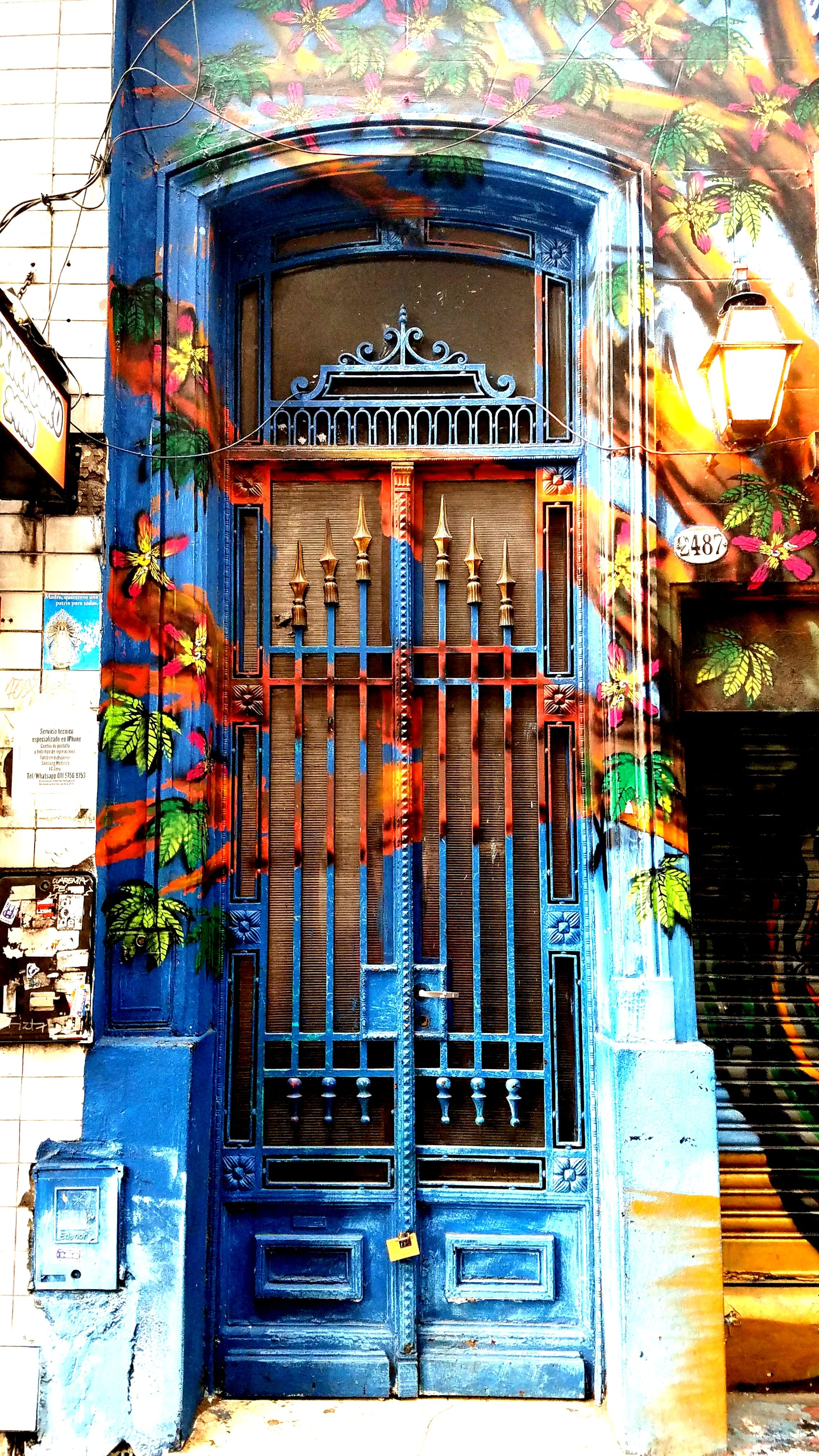 Buenos Aires, Argentina - Street Art & Graffiti (Doors) – This is from