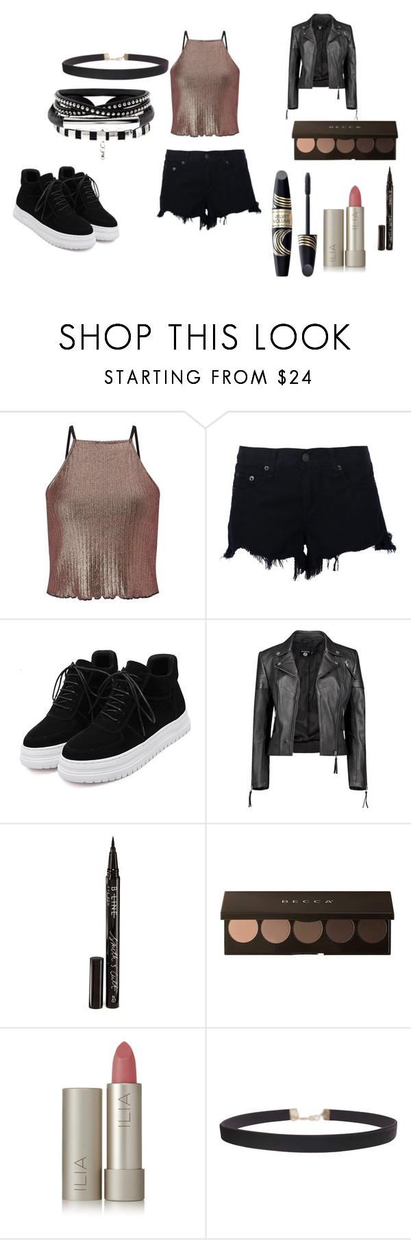 """""""Untitled #441"""" by destiny-am ❤ liked on Polyvore featuring Miss Selfridge, rag & bone, Boohoo, Smith & Cult, Ilia, Max Factor and Humble Chic"""