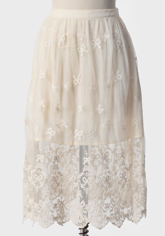 Nostalgia Shop Embroidered Skirt | Modern Vintage New Arrivals