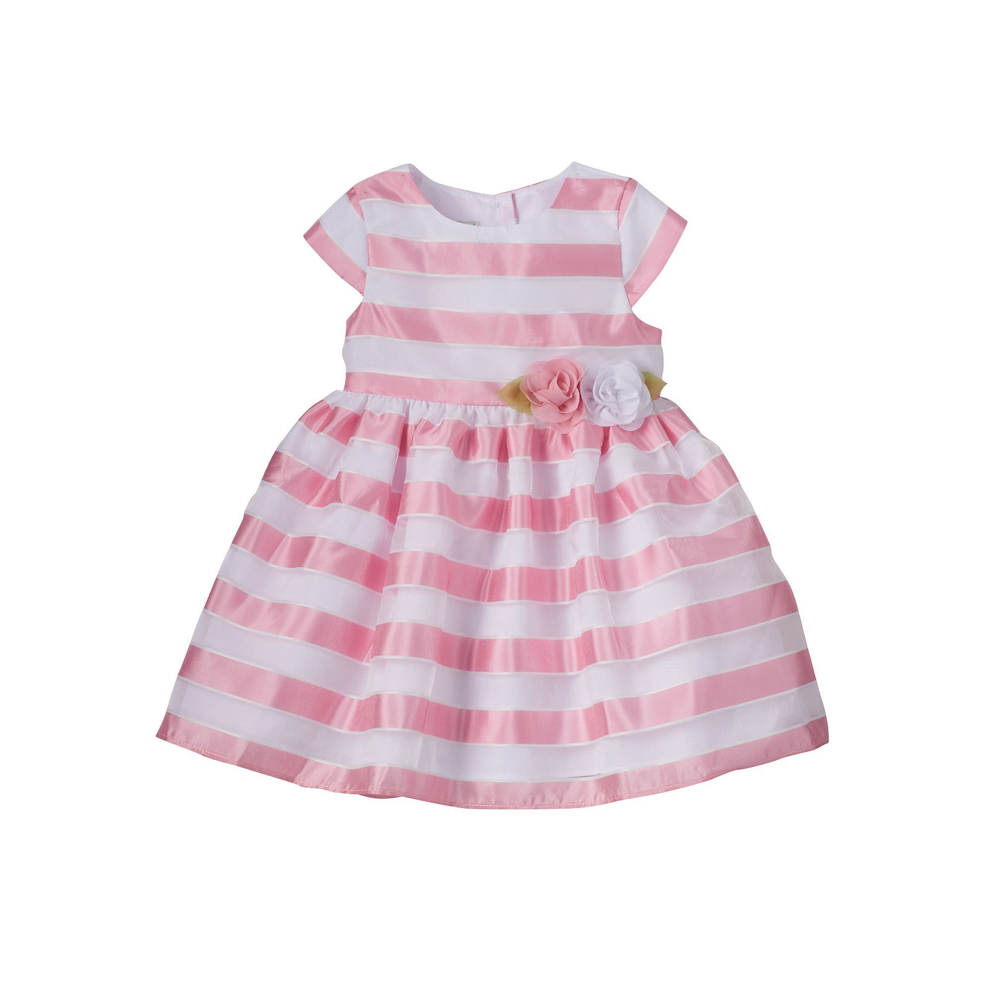 Toddler Girl Marmellata Classics Sheer Stripe Dress Size 2T Dark