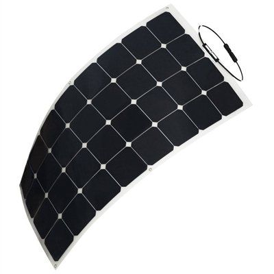 Hq 50 Watt 12 Volt Monocrystalline Semi Flexible Lightweight Solar Panel Flexible Solar Panels Best Solar Panels Solar Panels