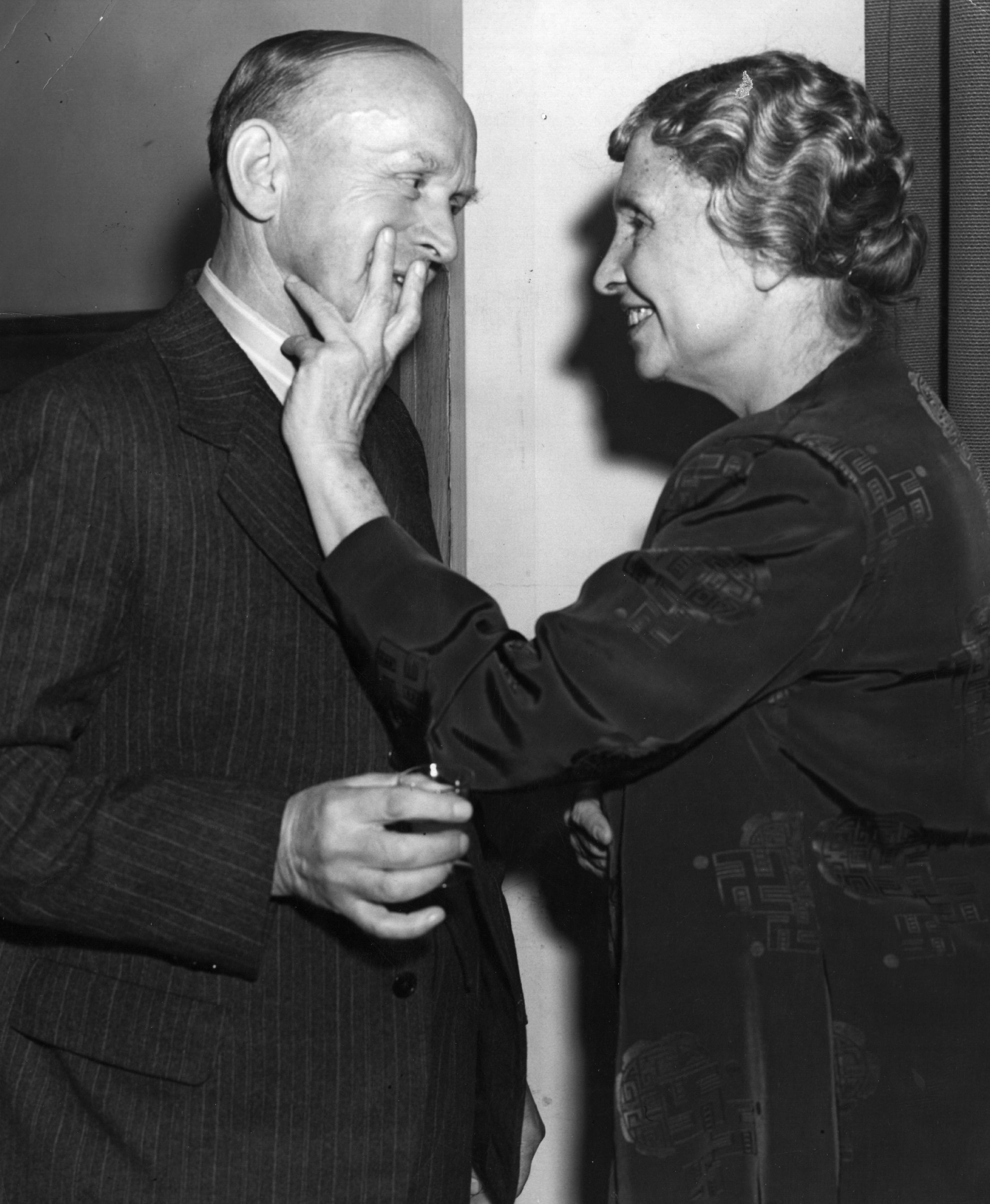 The Above Image Is Of Helen Keller Meeting Charlie Chaplin