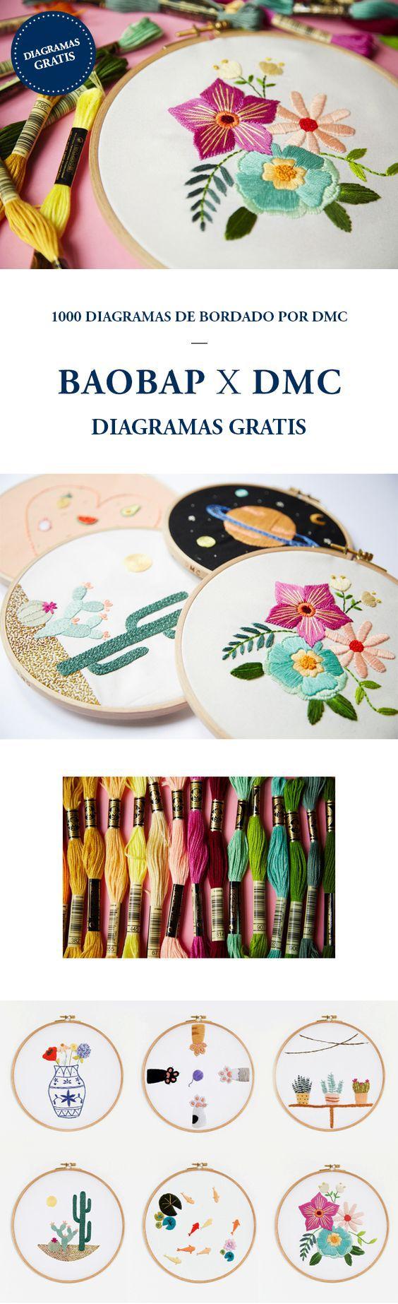 DIAGRAMAS DE BORDADO GRATIS POR DMC | embroidery | Pinterest ...