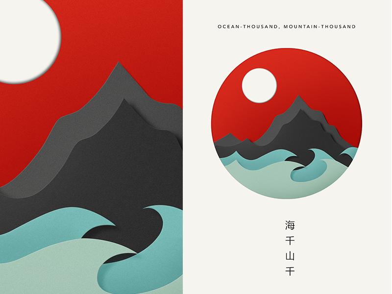 OceanThousand, MountainThousand Japanese art styles