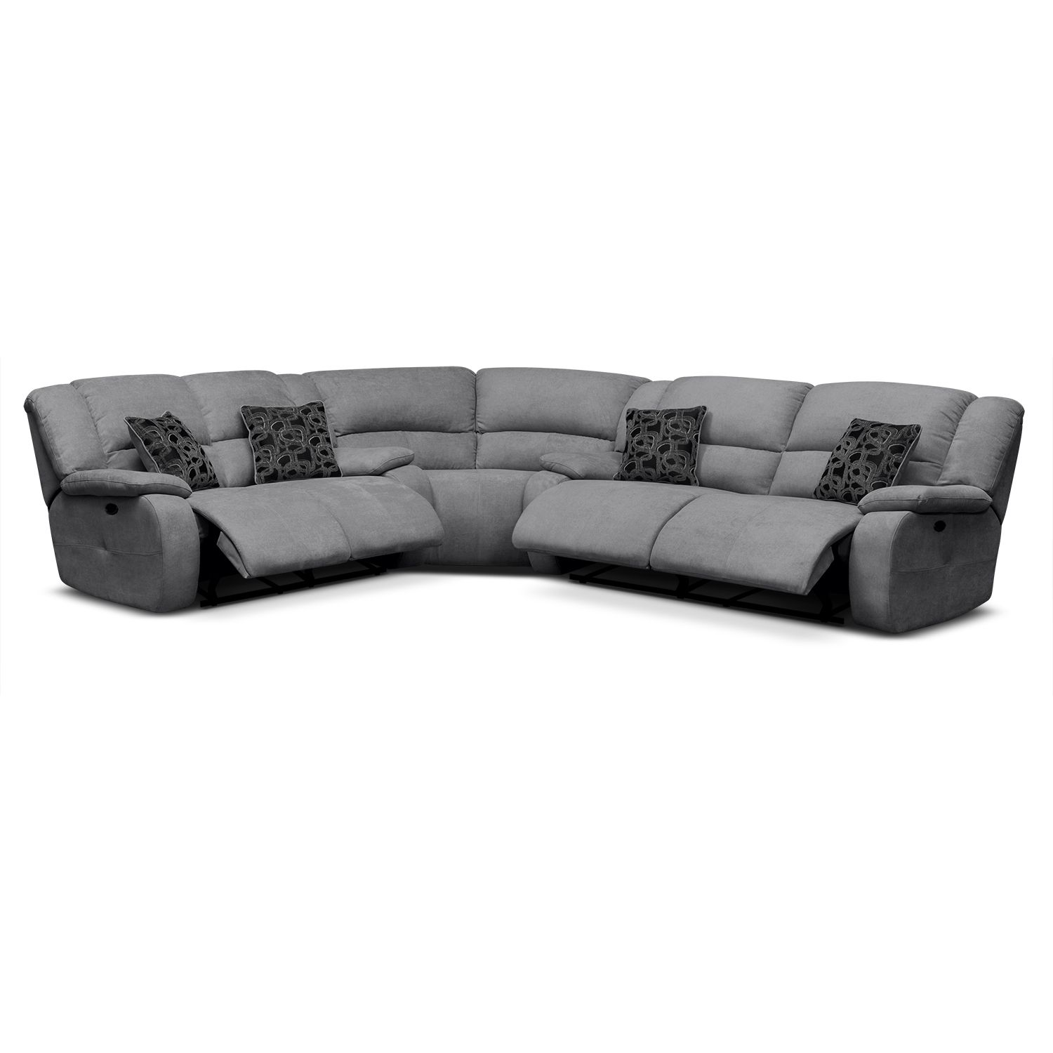 Living Room Furniture - Destin Gray II 3 Pc. Power Reclining ...