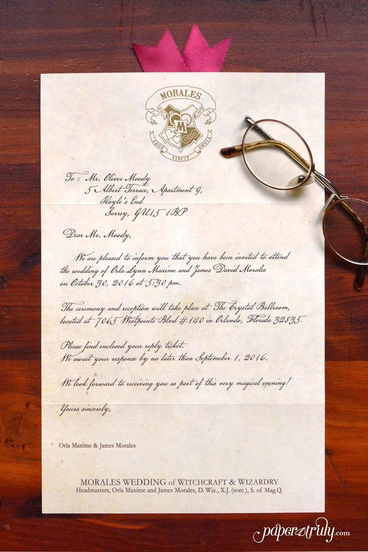 Loviosa Wizard S Letter Invitation Paper Truly Invitations Invitation Paper Lettering