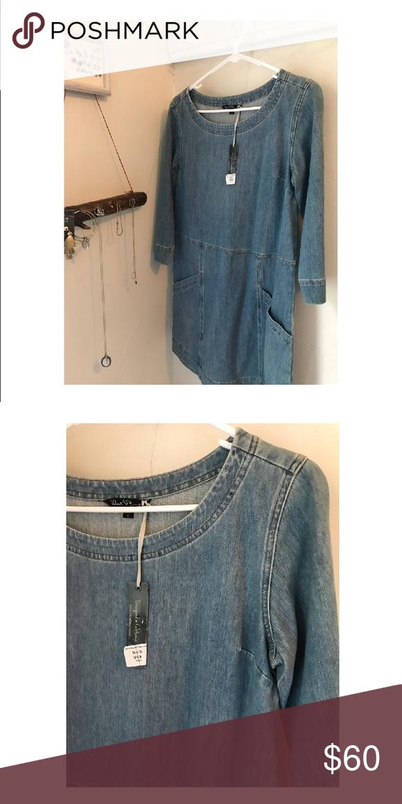 """Velvet Heart """"Mainstream Boutique"""" Denim Dress Brand new"""