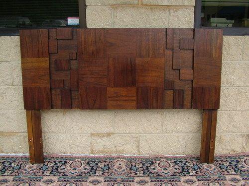 Best 1970 Cubist Brutalist Mid Century Modern Bed Headboard 640 x 480
