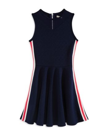 Sally Miller Girls' The Sidney Fit-and-Flare Dress - Big Kid - Navy #sallymiller
