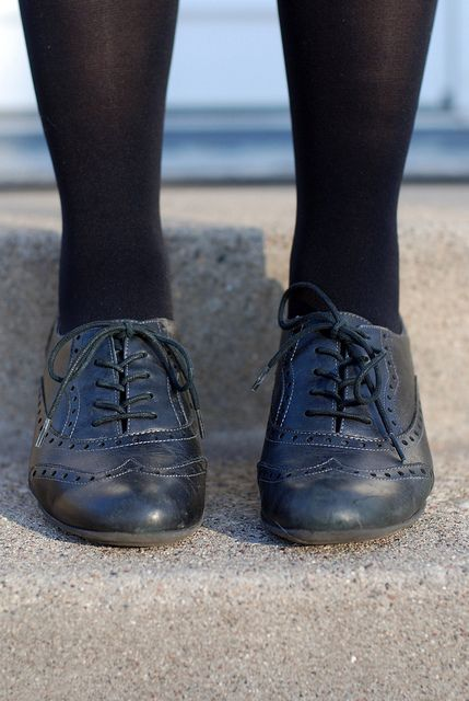 black school brogues