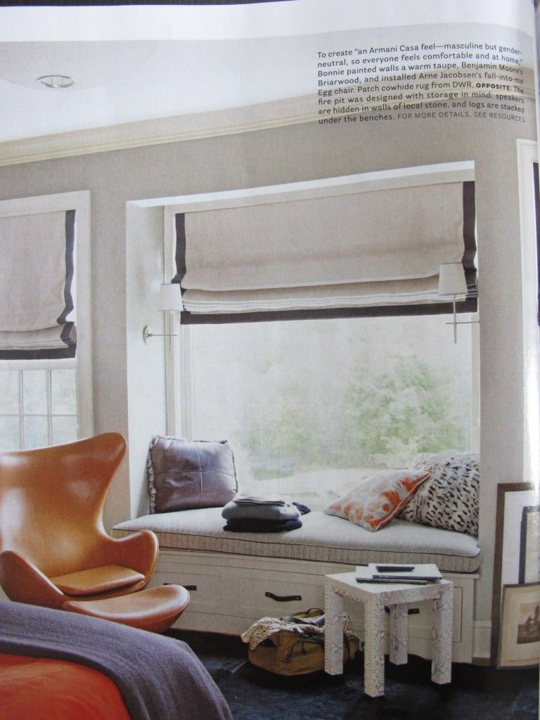 Window side bed  house beautiful april  issue page   deco  pinterest  house