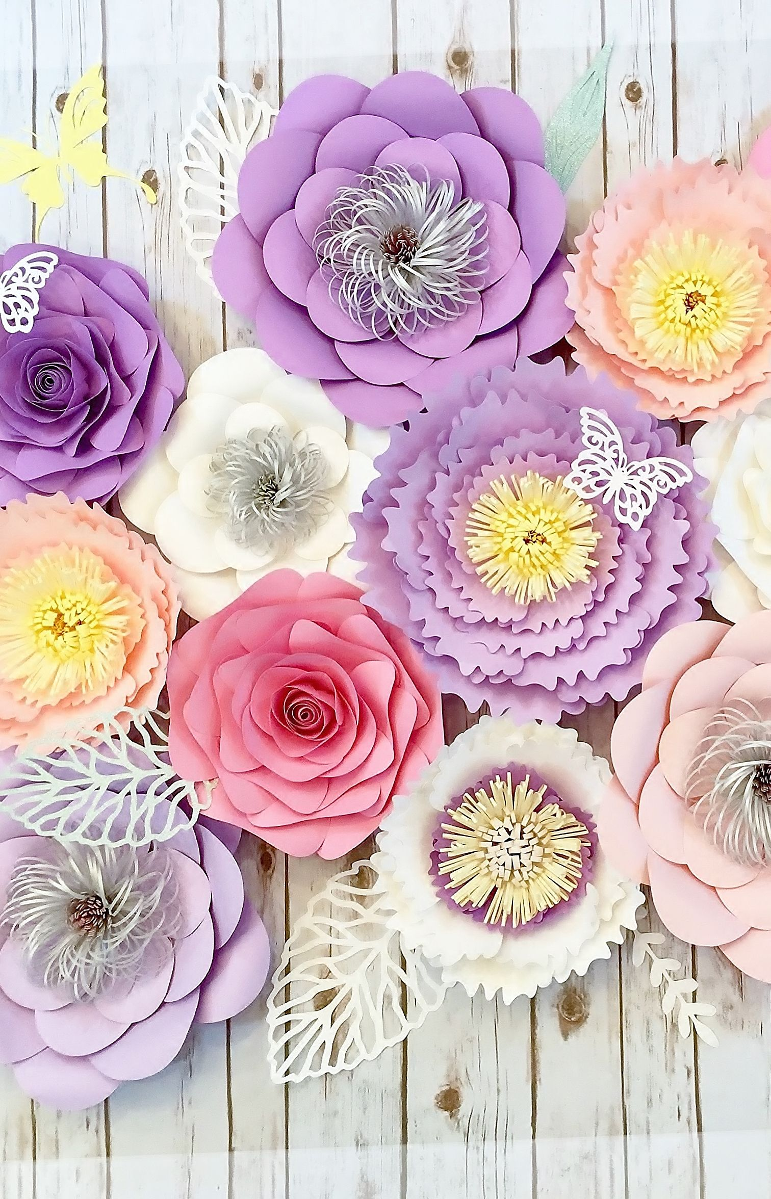 Large Paper Flowers Wall Decor Lilac Nursery Wall Art Purple Etsy Paper Flowers Large Paper Flowers Paper Flower Wall Decor