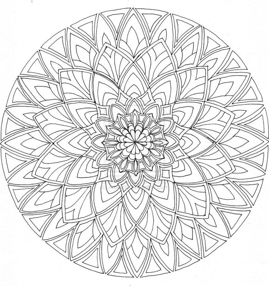desenhos para colorir difícil mandala nível mandalas modelos