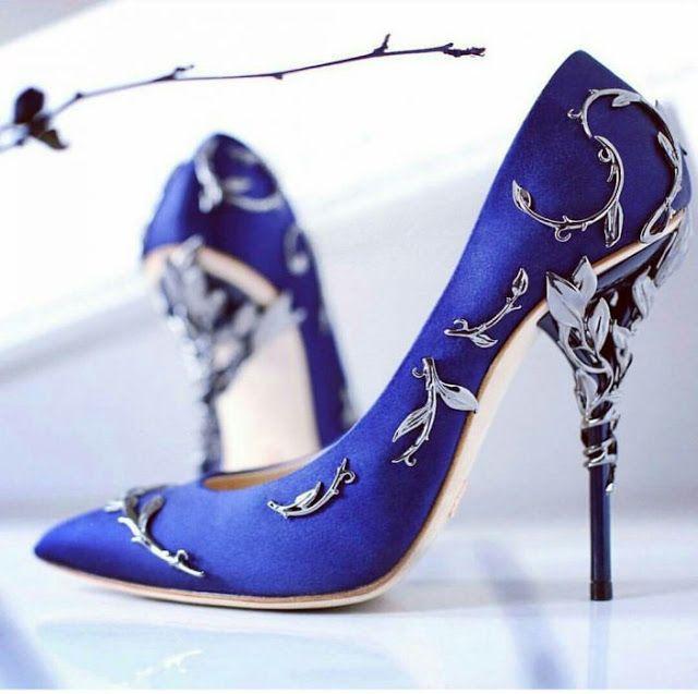zapatos de novia azul.   complementos   pinterest   zapatos