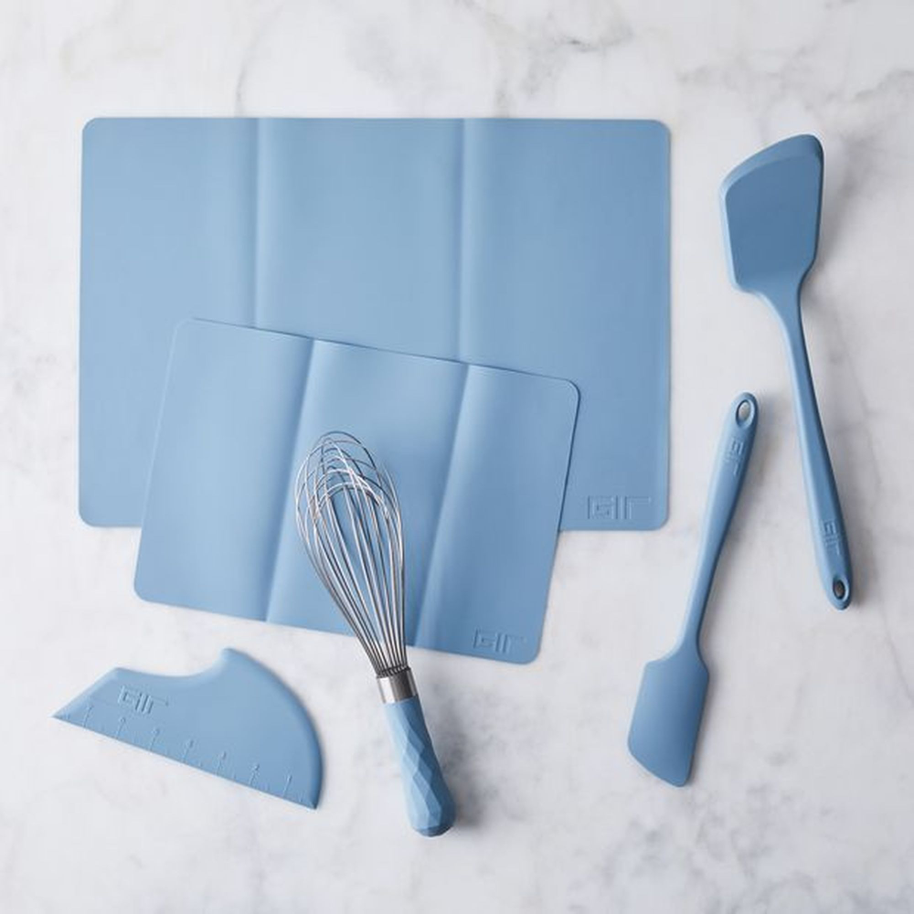 Gir Silicone Bakeware Set Set Of 6 Baking Tools White Or Blue In