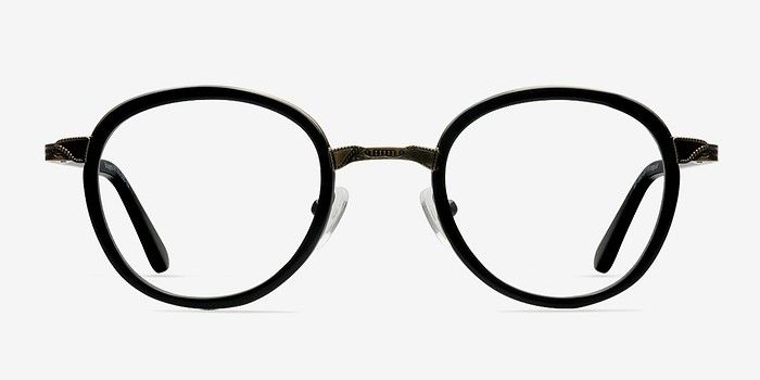 d9358399819 Bourgeois Black Metal Eyeglasses from EyeBuyDirect. Discover exceptional  style