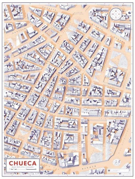 Barrio Chueca Madrid Mapa.19 Mapas Que Te Ensenaran Un Madrid Muy Diferente Form
