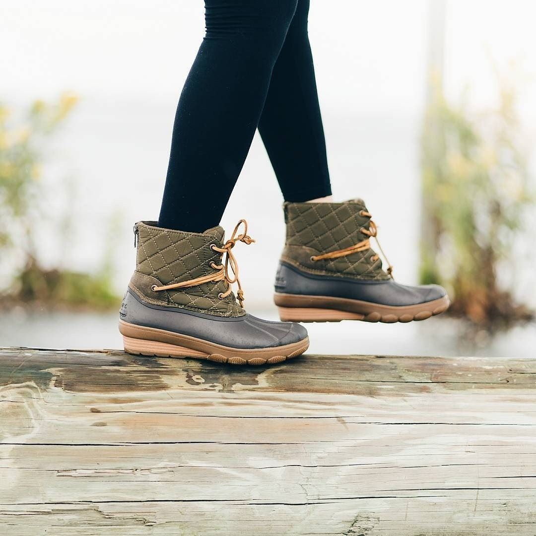 Sperry Saltwater Wedge Tide Leather Boot iRKnd98