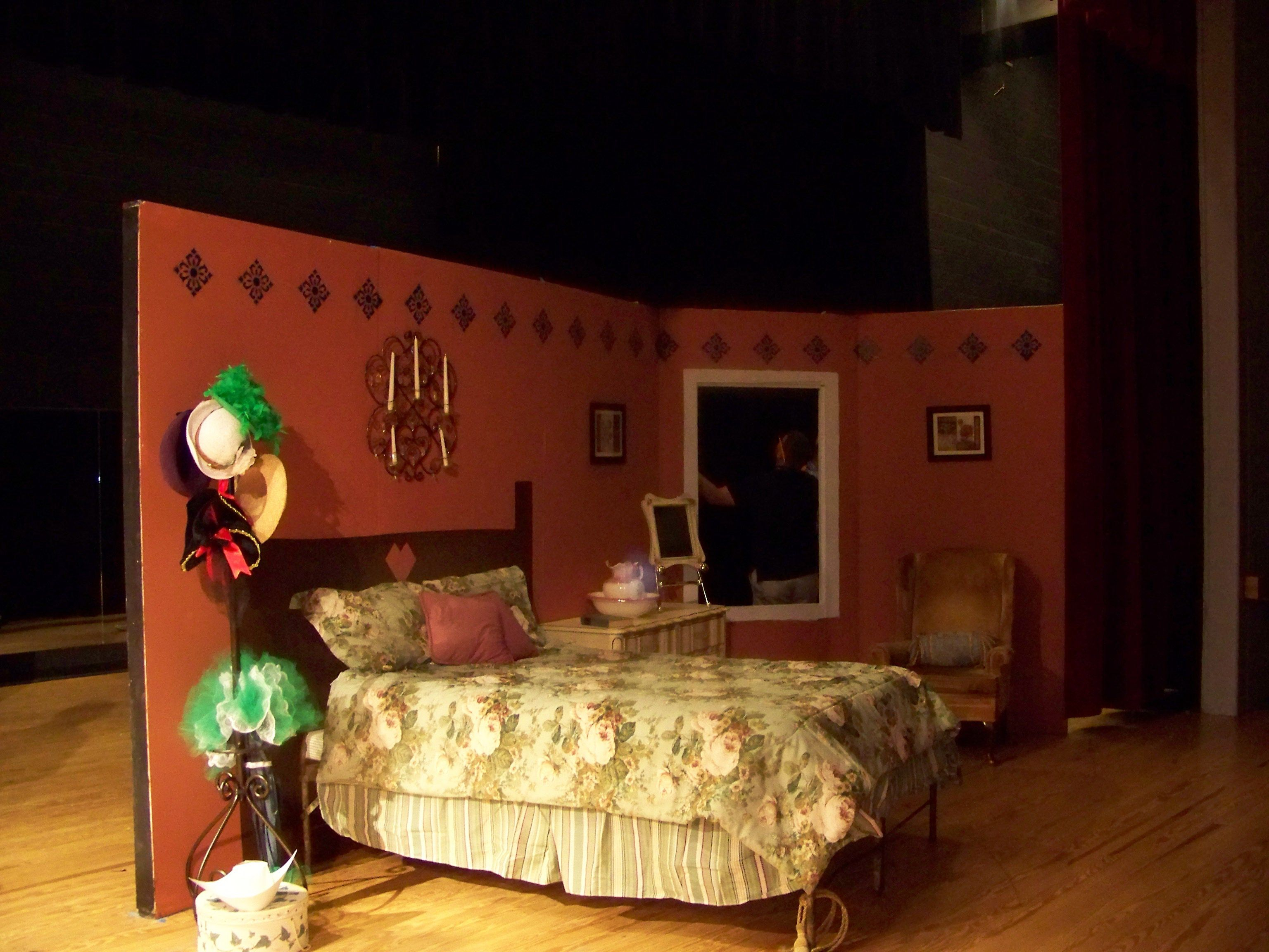 The set for lucy 39 s bedroom steampunk victorian bedroom for Stages bedroom collection